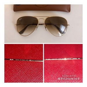 Ray-Ban Accessories - Ray Ban Large Aviator Gradient Gold RB3025